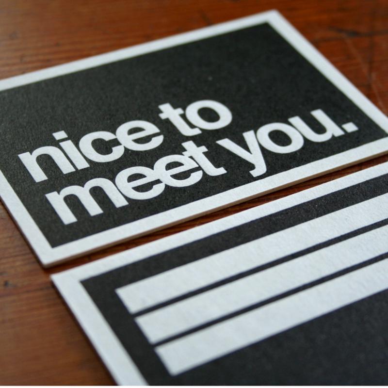 nice to meet you postcards